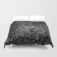 pittsburgh Duvet Covers featuring pittsburgh map by Line Line Lines