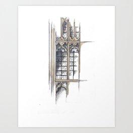 Bath Church Windows Art Print