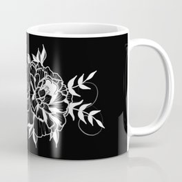 Etched Floral Coffee Mug