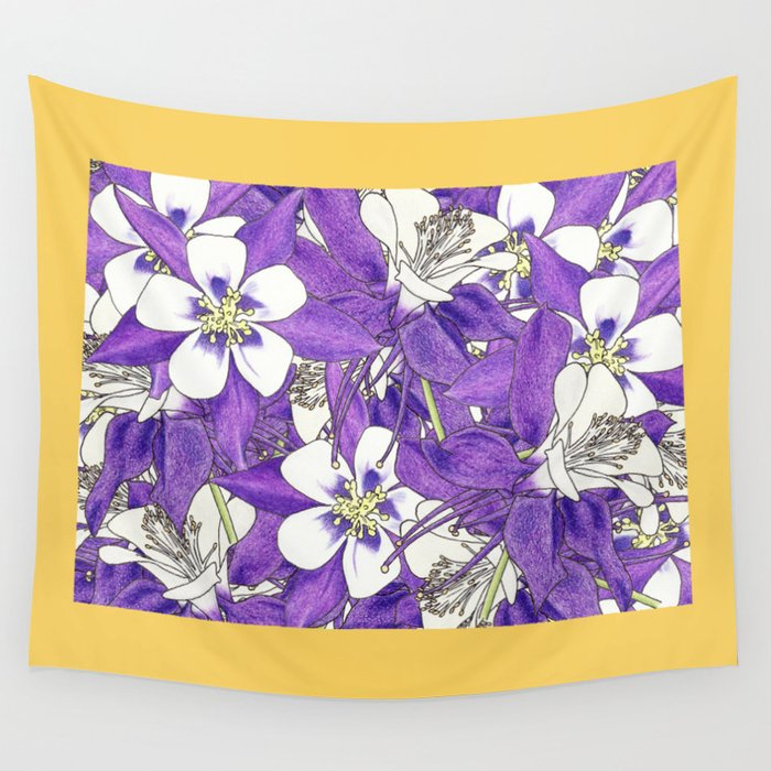 Colorado in Flowers Wall Tapestry