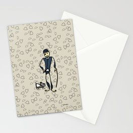 Charlie and the dog Stationery Cards
