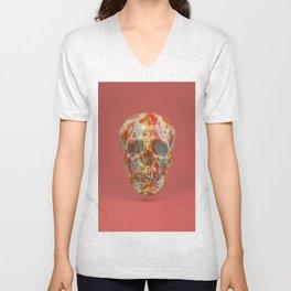 Red Candy Skull Unisex V-Neck