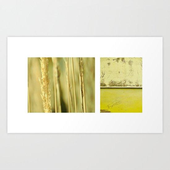 autumn diptych Art Print