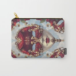 Floral Decadence - Red & Gold Venetian Mask Carry-All Pouch