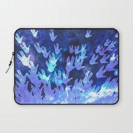 H.E.L.L.O. / blue Laptop Sleeve