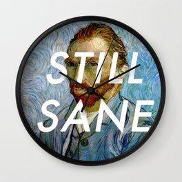 van Gogh is Still Sane Wall Clock