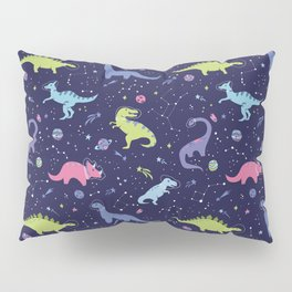 Dinosaurs in Space Pillow Sham