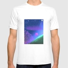 FLOWER IN THE WIND Mens Fitted Tee MEDIUM White