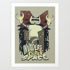 Invaders from outer space Art Print