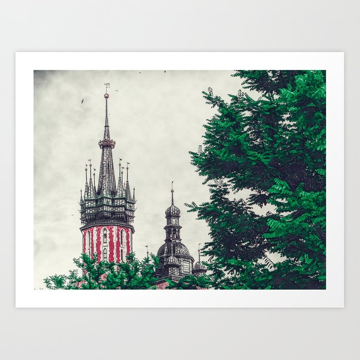 Cracow church Art Print