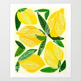 The Lemon Party II / Fruit Illustration Art Print