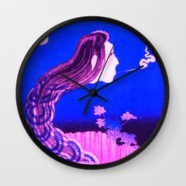 The Plate Mansion - Traditional Japanese Art Remixed Wall Clock