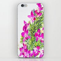 singapore iPhone & iPod Skins featuring Singapore Orchids by marlene holdsworth