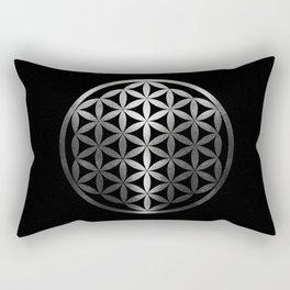 Flower Of Life (Silver Gleams) Rectangular Pillow