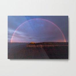 Grand Canyon Rainbow Metal Print