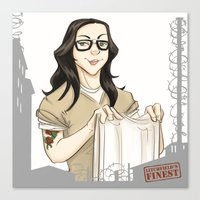 alex vause Canvas Prints featuring Alex Vause OITNB by StephDere