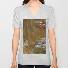 1917-Claude Monet-The Water Lily Pond Unisex V-Neck