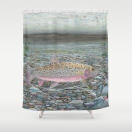 Yellowstone Cutthroat Trout Shower Curtain
