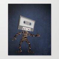 cassette Canvas Prints featuring Cassette by Phlauder