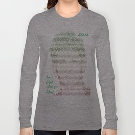 Niall Lyric Dont forget where you belong Silhouette Long Sleeve T-shirt