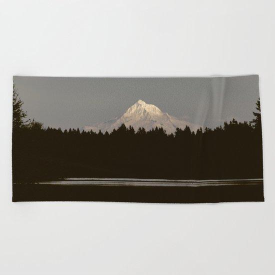 Mount Hood Reflection Beach Towel