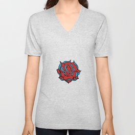 Oldschool Rose Love Unisex V-Neck