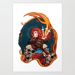 Fire Witch Framed Art Print