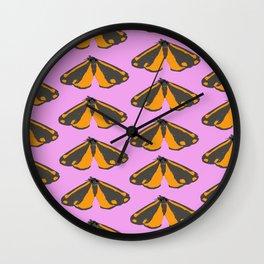 Moth Pop Pink Wall Clock
