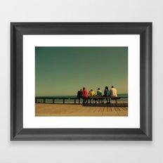 Sea colors Framed Art Print