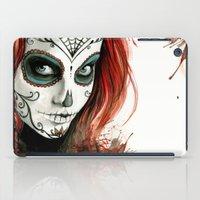 dia de los muertos iPad Cases featuring Dia de los Muertos by Elena Tsuya
