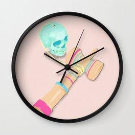 SKULL KENDAMA Wall Clock