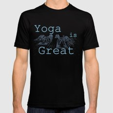 Yoga Is Great : Blues Take Two Black Mens Fitted Tee MEDIUM