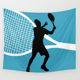 Tennis Indoor Smach Racket Wall Tapestry