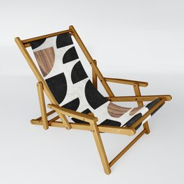 Mid-Century Modern Pattern No.7 - Concrete and Wood Sling Chair