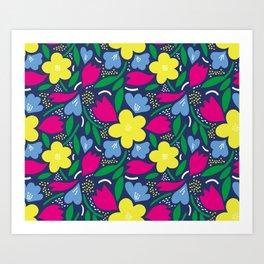 Floral Festival Art Print
