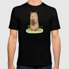 Bear Bouquet Mens Fitted Tee MEDIUM Black