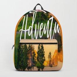 Adventure Awaits Grand Teton Landscape Print Backpack