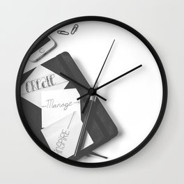 Create, Manage, Inspire Wall Clock