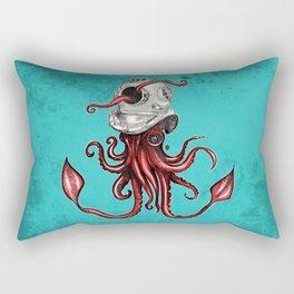 Squid with Diving Helmet Rectangular Pillow
