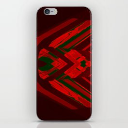 look behind the wooden structure iPhone Skin