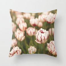 Candy Tulips Throw Pillow