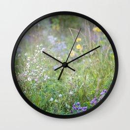 Purple in the Prairie Wall Clock