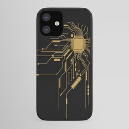 Gold Broken IC iPhone Case