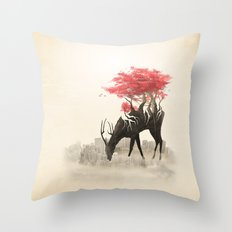 Revenge of the forest Throw Pillow
