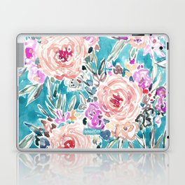 WAHINE WAYS Aqua Tropical Floral Laptop & iPad Skin