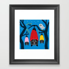 Bats in Blankets Framed Art Print