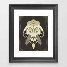 Canis Lupus: White Framed Art Print