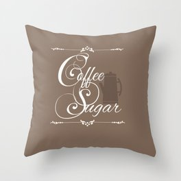 Coffee & Sugar Throw Pillow