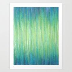 Ombre Aqua Bliss painting Art Print