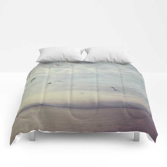 Purple Sunset Comforters